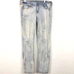 American Eagle Stretch Skinny Distressed Jeans